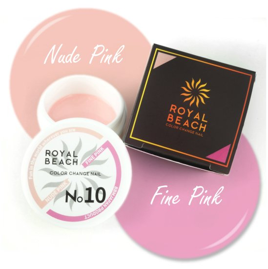 ROYAL BEACH<br>ロイヤルビーチ<br>カラーチェンジ<br>ジェルネイル<br>NUDE PINK⇔FINE PINK<br>No10<br>【送料無料】<img class='new_mark_img2' src='https://img.shop-pro.jp/img/new/icons20.gif' style='border:none;display:inline;margin:0px;padding:0px;width:auto;' />