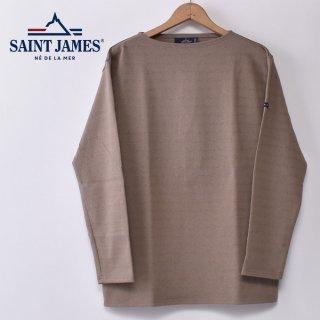 国内正規品 SAINT JAMES セントジェームス OUESSANT ウエッソン BORDER ボーダー  長袖Tシャツ HAMAC/ECORCE(ベージュ/ヘーゼルブラウン)