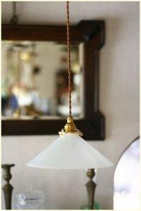 フレンチ アンティーク シンプルなミルクガラス ランプシェード