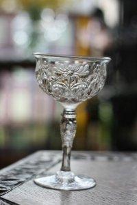 イギリス  優雅な花模様  ロイヤルブライアリー ペア シャンパングラス