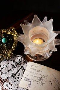 非日常をオン!フレンチ バラのランプシェード キャンドルホルダー
