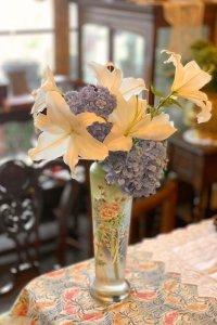 ハンドペイントのお花 フレンチ フラワーベース