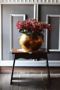ライオンハンドル カパー(銅)&ブラス(真鍮)のプラントポット