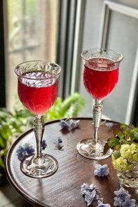 英国  ロイヤルブライアリー たわわに実る葡萄 ハンドカット ワイングラス ペア