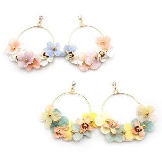 flower dew hoop ピアス:zoule(ゾーラ)