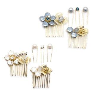 pearl flower ヘアコーム・Uピンセット:zoule(ゾーラ)