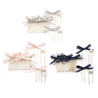 double ribbon ヘアコーム・Uピンセット:zoule(ゾーラ)
