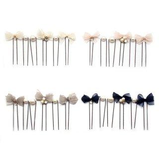 sprinkle ribbon&pearl Uピンセット:zoule(ゾーラ)