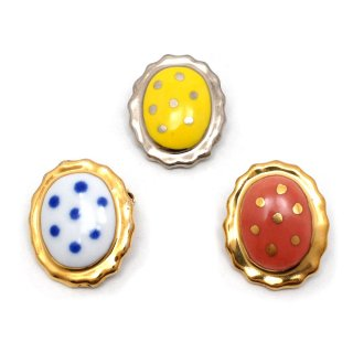 有田焼 水玉宝石 ブローチ:gargle(ガーグル)