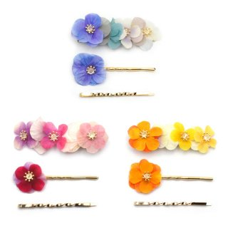 colorful flower クリップ ヘアピンセット:gargle(ガーグル)