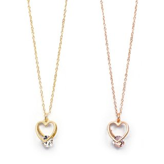 double heart stone ネックレス:zoule(ゾーラ)