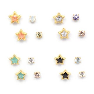 cubic star set ピアス:zoule(ゾーラ)