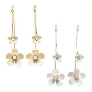 combi plated flower ピアス:zoule(ゾーラ)