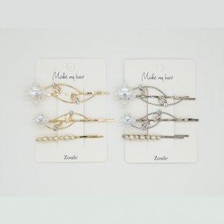 〈2021.8月新作〉antique flower pin ヘアピン:zoule(ゾーラ)