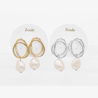 〈2021.9月新作〉infinity pearl ピアス:zoule(ゾーラ)