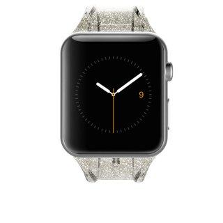 【キラキラのラメを封入した鮮やかなデザイン】Case-mate 38mm / 40mm Apple Watchband - Sheer Glam - Champagne
