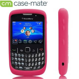 【シンプルなソフトケース】 BlackBerry Curve 9300 Safe Skin Hot Pink