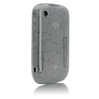 【シンプルなソフトケース】 BlackBerry Curve 9300 Gelli Case Checkmate Gray