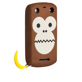 【サルのソフトケース】 BlackBerry Curve 9350/9360/9370 Bubbles Monkey Case Brown