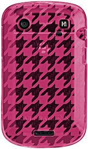 【シンプルなデザインのソフトケース】 BlackBerry Bold 9900/9930 Gelli Case Houndstooth Pink