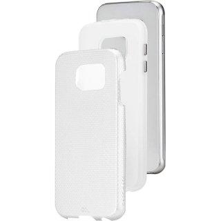 【2層構造でしっかりと保護するケース】 GALAXY S6 SC-05G Hybrid Tough CasePearl White / Clear ハイブリッド タフ ケース
