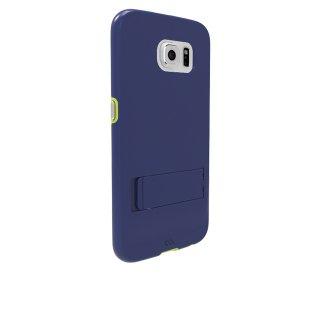 【落下等の衝撃に強いスタンド付きケース】 GALAXY S6 SC-05G Hybrid Tough Stand Case Slate Blue/Mint