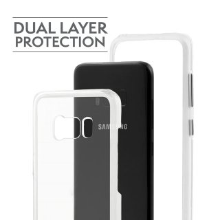 【Galaxy S8 衝撃に強いクリアーケース】Galaxy S8 SC-02J/SCV36 Hybrid Naked Tough Case Clear/Clear