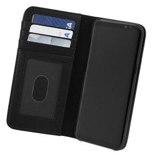 【Galaxy S8 ケース ハンドメイド 本革レザー】Galaxy S8 SC-02J/SCV36 WALLET FOLIO Black 【カードや紙幣が収納できる】 手帳型 ケース