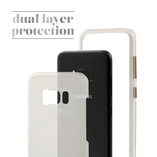 【Galaxy S8+ 透き通る 輝き】 Galaxy S8+ SC-03J/SCV35 Sheer Glam Case Champagne/Clear シアー グラム ケース シャンパン ゴールド
