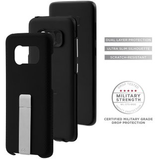 【Galaxy S8+ スタンド付き耐衝撃タイプ】 Galaxy S8+ SC-03J/SCV35 Hybrid Tough Stand Case Black/Silver
