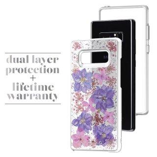 【ドライフラワーを使用! Galaxy Note 8用】Galaxy Note 8 Karat - Petals  Purple