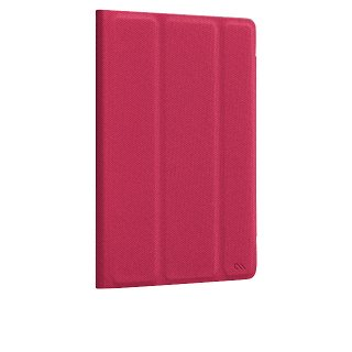 【薄い iPad mini ケース】 iPad mini 3/2/1 Textured Tuxedo Case Lipstick Pink