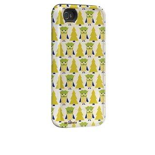 【衝撃に強いデザインケース】 iPhone 4S/4 Hybrid Tough Case Owl Forest