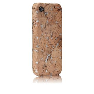 【コルク調のハードケース】 iPhone 4S/4 Lisboa Case with Screen Protector Cork/Silver