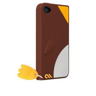 【かわいいペンギンのケース】 iPhone 4S/4 Creatures: Waddler Case Brown