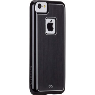 【金属風に背面を加工したケース】 iPhone 5c Brushed Aluminum Effect Sleek Case Black