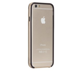 【iPhone6s/6 ケース PC+TPU 一体成形 ユニボディ】 iPhone6s/6 Tough Frame Case Champagne Gold / Black