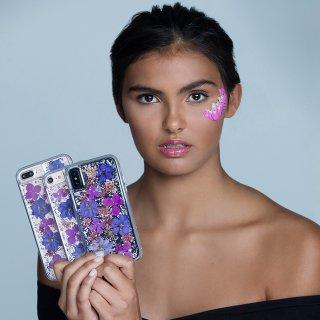 【iPhone8 Plus ハッピーでかわいいケース】iPhone8 Plus/7 Plus/6s Plus/6 Plus Karat Petals - Purple
