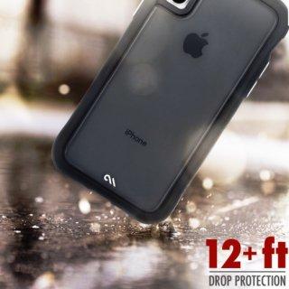 【シンプルデザインながら耐衝撃性抜群!】iPhoneXR Protection Collection-Translucent -Black