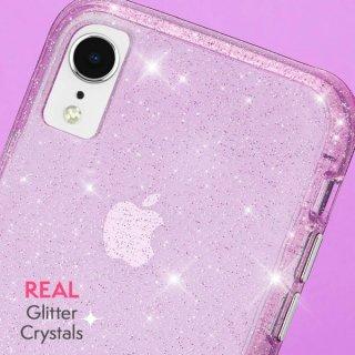 【クリスタルのきらめきが美しい】iPhoneXR Sheer Crystal-Blush