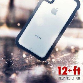 【シンプルデザインながら耐衝撃性抜群!】iPhoneXR Protection Collection-Clear/Black