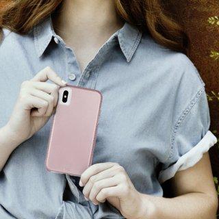 【シンプルな二重構造ケース】iPhone XR  Tough Grip - Metallic Blush