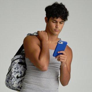 【シンプルな二重構造ケース】iPhone XR Tough Grip - Blue/Titanium