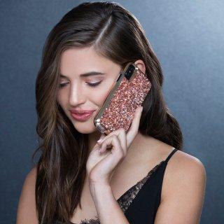 【水晶を使用した高級感あふれるプレミアムなケース】iPhoneXS/X Brilliance - Rose Gold