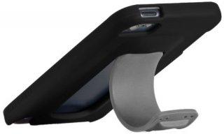 【ワンタッチでスタンドが飛び出すケース】 iPod touch 5th/6th Snap Case Black/Titanium Grey