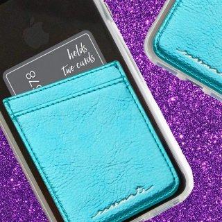 【ID ポケット ティール カードホルダー機能搭載のステッカーポケット】 ID Pockets Teal ID ポケット ティール