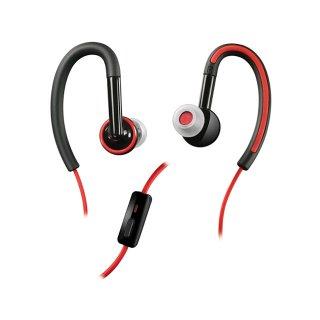 【ジョギングに最適のヘッドセット】 Motorola 純正 Sports Stereo Headset SF200 (3.5mm)  Black / Red