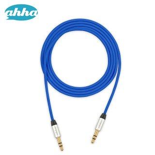 【スマートフォンからスピーカー等に接続するケーブル】 ahha Audio Cable 1M  Turbo Blue