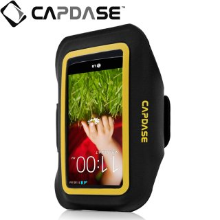 【ジョギングに最適なケース】 CAPDASE Sport Armband Zonic Plus 145A for 5inch  Black/Yellow