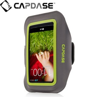 【ジョギングに最適なケース】 CAPDASE Sport Armband Zonic Plus 145A for 5inch  Grey/Green